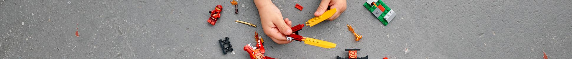 Kai's fire dragon LEGO banner