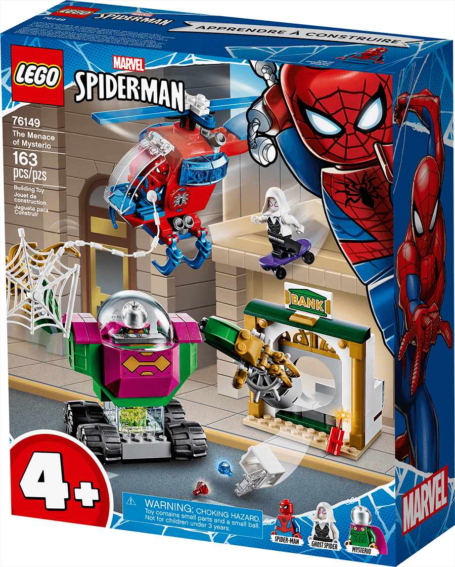 The Menace of Mysterio LEGO package
